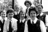 Small group of pupils at St Teresa's, 1956